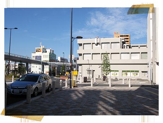 陸橋エレベーター前歩道;アノアデザインのMTG+α